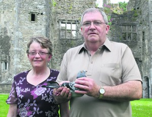 Joan Lenihan and Martin Sheill of Mallow Racing Pigeon Club, whose bird won the Yearling National, beating 5,200 other birds from South Wales back to home. Pic S Murphy.