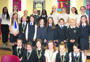 Young ladies footballers who took part in various blitzes during the year.