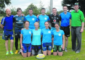 tag rub 0228; Kilmallock wrriors who won the Bull 7 Booze tag rugby at Bruff RFC. pic declan hehir