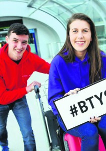 Ian O'Sullivan and Eimear Murphy from Colaiste Treasa, Kanturk, who have been awarded the international travel award Intel ISEF at the European Union Contest for Young Scientists (EUCYS) in Milan.