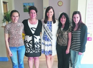Cork Rose, Aoife Murphy, pictured at the Gilbert Centre with Irena Meiksane, Susan Sands, Claire O'Donovan and Paula Quill.