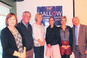 Chairpersons of the Pillar Groups of Mallow Development Partnership pictured at their meeting in the Hibernian Hotel last week, Tricia O'Sullivan, Brendan O'Shea, Mary Kelly, Noreen Walsh, Caroline Sheehan and Tom Cronin.