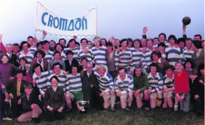 Croom Footballers celebrating their victory in 1976