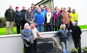 Some of the people who attended the unveiling of the plaque by John Hough, historian in Kilmeedy.   --  The Boreen   -- G. Molyneaux