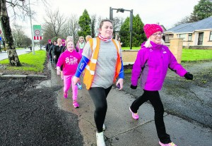 Clare Scanlan Operation Transformation Leader and Aoife Hearne Operation Transformation Nutritionist leading more than 500 people from across County Limerick gathered in Newcastle West on Saturday for the annual Operation Transformation walk. The sixth annual event, which was organised by Limerick Sports Partnership (LSP) and Sport Ireland in conjunction with RTE's Operation Transformation programme, was one of 54 such events taking place around Ireland at the weekend. Clare Scanlan, who is originally from West Cork but now lives in Newcastle West, was the centre of attention for an RTE camera crew on the day after she was confirmed one of five Leaders in this year's Operation Transformation television series. Clare joined people from all over Limerick on a 5km walk from the Demesne in the town.  Picture: Keith Wiseman