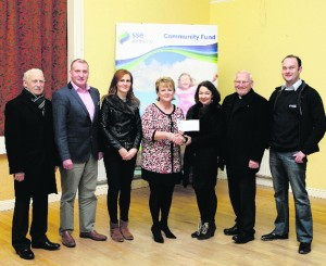 Reps. from Athea National School receiving funding from Anne Reynolds Airtricity also in photo is Mayor Galvin and Peter McMahon Airtricity. Paul  Ward SSE Airtricty Community Fund Presentation
