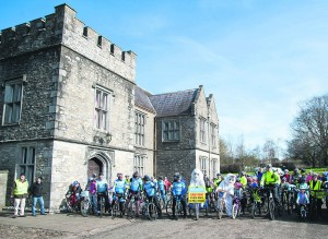 Easter Bunnies and members of Revolution Cycling Club getting ready to lead the Pi Cycles 10km Family Fun Cycle from Mallow Castle on Easter Monday. Photo by Sean Jefferies Photography.