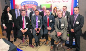 Managing Director Don Flynn, sales director Tom Meager and the winning team at the Plassey Food Fayre on Wednesday last