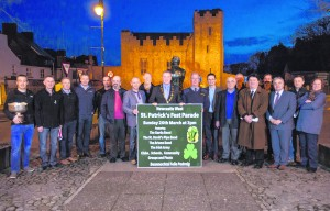 Patrick O'Donovan, T.D. and Cathaoirleach Liam Galvin joined members of the Newcastle West Chamber of Commerce as well as local business owners to launch the St. Patrick's Fest Parade in The Square, Newcastle West Marie Keating Launch Newcastle West St Patricks Fest