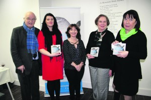 Arts Committee members John Cussen, Rachel Lenihan, Anne Lenihan Keane, Vicki Nash and Norma Prendiville. Missing from photo Vincent Hanley.   -- Launch of Eigse Michael Hartnett in Newcastle West at the Red Door Gallery by Donal Ryan award winning novelist and short story writer   -- George Daly