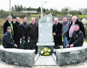 Committee members, Patrick Collins, Liam Lenihan, Timmy Horgan, Maurice Curtin, Senan Nolan, Tom Toomey, James Wright, Paddy Delargy, Sheera Collins. Paul Ward Monument Unveiling in Tournafulla