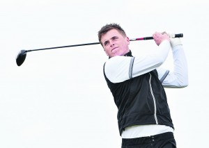 James Sugrue driving at the 8th tee in the second round of the 2016 Flogas Irish Amateur Open Championship at the Royal Dublin Golf Club.