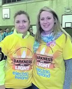 Una McCormack and Sandra O'Connor.   ---   Darkness Into Light Newcastle West   -- Pauline O'Connor