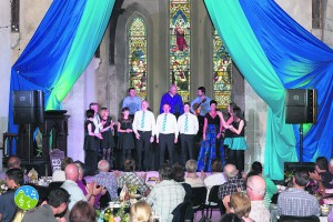 The Old Chapel Rooms, Kilfinane, provided a lovely backdrop for these singers at the Hup na Houra launch night.