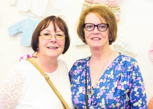 Helen Cusack  and Margaret Ryall from Mallow Crafters at the launch of the exhibition of the work of the Cork County Library Knitting Clubs and Groups at the LHQ Gallery at the County Library. Picture: Martin Walsh.