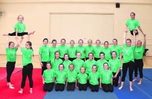 Pyramid gymnasts who travel to Italy this week for the Festival De Sol.