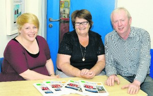 Board of Management members Cathy Lenihan, Mary Harnett and Vincent Sheehy, Chairman. Paul Ward Dromtrasna NS Book Launch