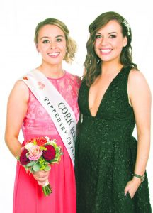 The 2016 Cork Rose, Denise Collins, pictured with Aoife Murphy who won the title last year.