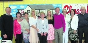 Members of the Board of Management, past teachers of Courtenay and Principal Rena Culhane with Elizabeth Stack at her retirement Mass in the school. --- Elizabeth Stack Retires from Courtenay School Ncw --