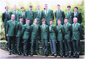 Team Ireland with Mallow trout angler Aaron McCann, 3rd from left in front row.