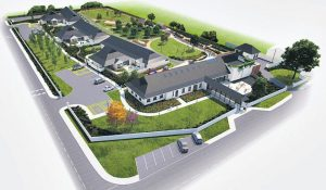 A computer generated image of the revolutionary new purpose built dementia facility being developed by Carebright in Bruff. The project, estimated to cost €5.5m, is currently €980,000 short of its fundraising target and the forthcoming 10k on Saturday 1st October is one of a number of events planned to raise the necessary finance