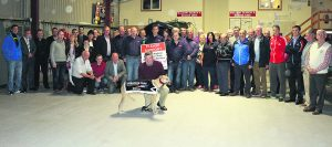 John Joe Ronayne pictured with supporters of the Colin Ronayne Memorial Fund, plus members of Mallow Search and Rescue, and special guests, at the launch of the Greyhound Benefit Night at Curraheen on Saturday, 26th November. The night at the dogs is in aid of Malow Search and Rescue.