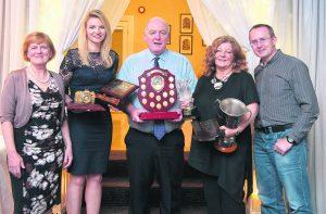 Anne Frances, Cork Camera Club, with award winners Justyna Trzesicki, Jim McSweeney, Joy Buckley, and Cian O'Mahony of Blarney Camera Club.