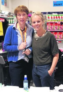 Community Senior Staff Nurse Gillian Fives, and Public Health Nurse Stephanie Cronin, were carrying out men's health checks at Co-Op Superstores.