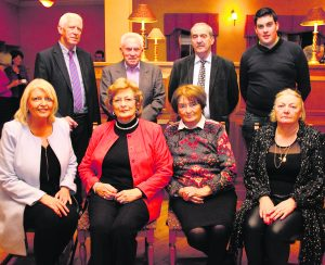 Jean O'Brien, Theresa Doyle McMahon, Joan McMahon (whose husband Garry has a song on the CD), Tony Doyle, Michael Nash, Michael Doyle and Enda Walsh, who all feature on the CD. Also pictured is Mary O'Connor (cousin of the late Garry McMahon). George Daly Launch of CD at Rathkeale House Hotel