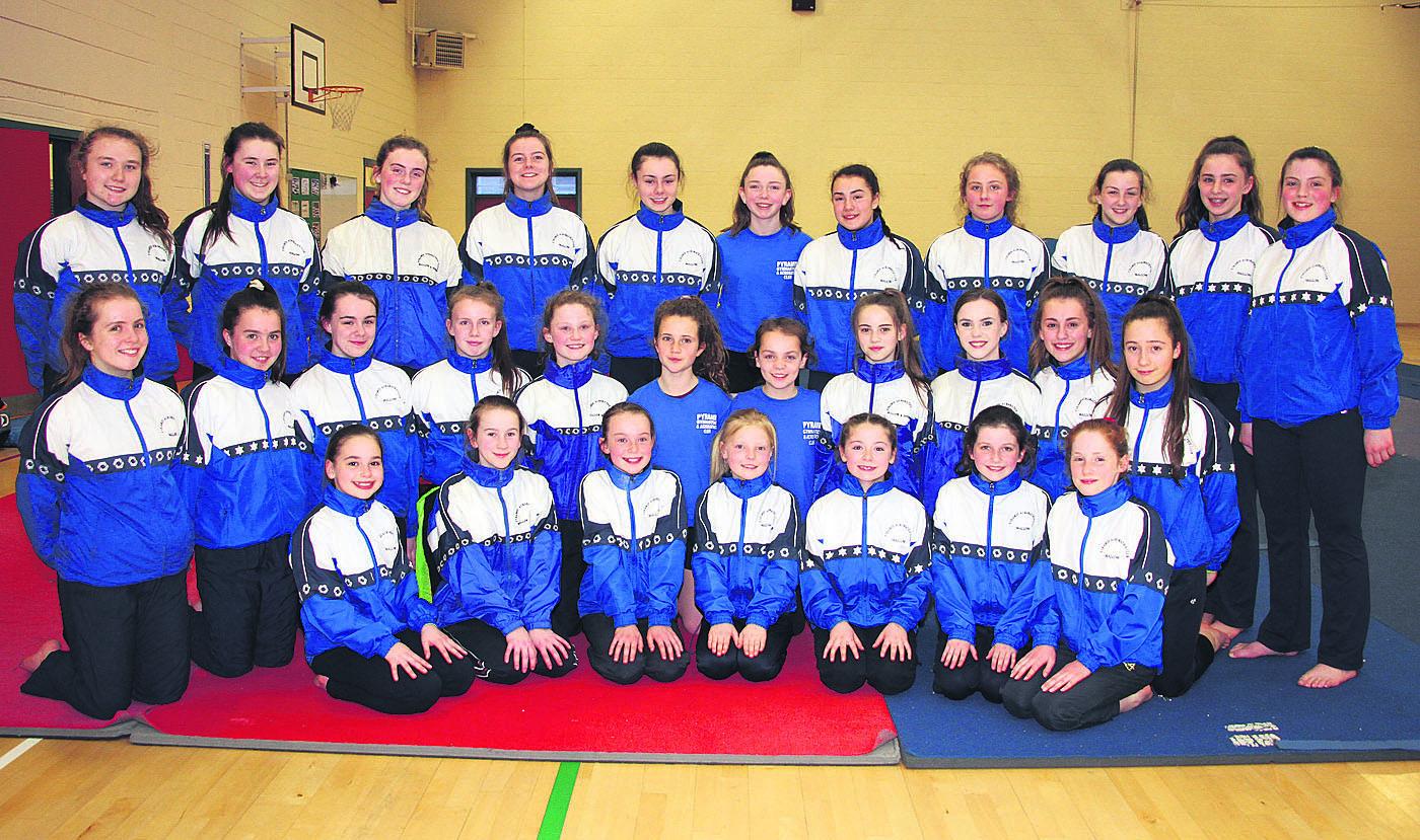 Pyramid gymnasts shine in Clondalkin